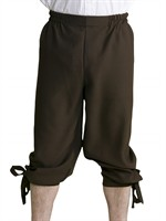 trousers 3/4 brown