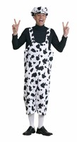 Dungarees cow black/white
