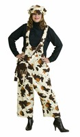 Dungarees cow ecru/brown