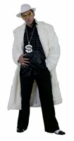 Faux fur coat white imitation