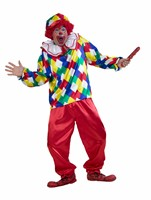 Clown Peppo 3-tlg (Bluse,Hose,Kappe)