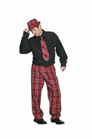 trousers red plaid