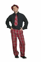 trousers red plaid  luxury
