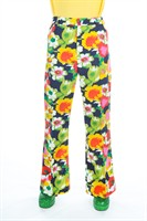 Trousers of the seventies Flower Power