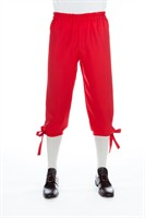 trousers 3/4 red