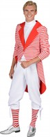 Tailcoat stripes red/white