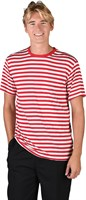 Striped shirt, red/white luxury