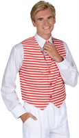 Waistcoat stripes red/white