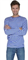 Blue/white striped jumper luxery