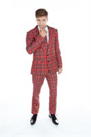 trousers red plaid Slim Fit