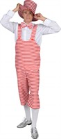 Dungarees stripes red/white