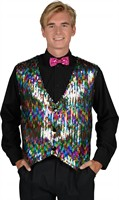 Waistcoat sequinned  multicolor