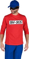 Shirt red long sleeve with print