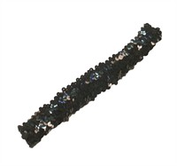 Black sequinned headband