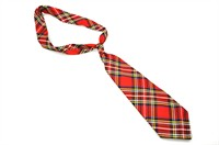 Necktie red plaid