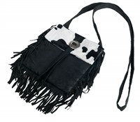 Wild West bag, black (21x21 cm)