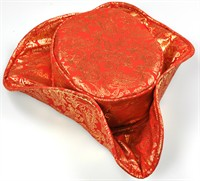 Three-cornered hat red/gold
