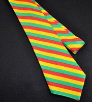 Tie stripes red/yellow/green