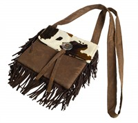 Bag wild west brown 22x21cm