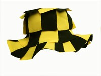 Patchhat yellow/black, one size (H=15 cm)