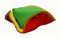 Three-cornered-hat, red/yellow/green