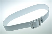 Belt white lacquer