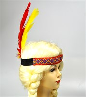 Indian headband red feather