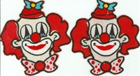 Hotfix iron application clown (11x10cm) 2pcs.