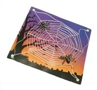 Spiderweb with cupping -glass Halloween (27x27 cm)