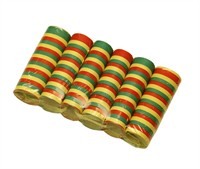 Paper streamers red/yellow/green 6 rolls