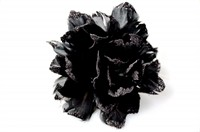 Flower glitter black with iron wire