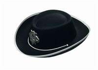 Hat Cowboy with star black, child (H=8 cm)