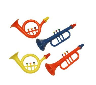 party music colourful, per piece (14 cm)