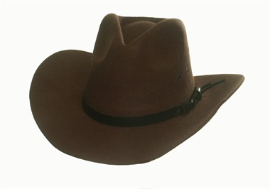 Rodeo hat brown (H=13 cm)
