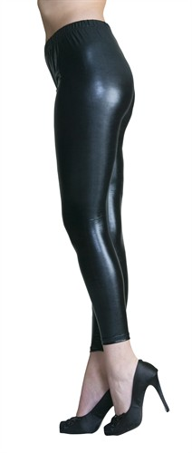 Legging schwarz (Lederlook)