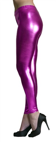 Legging fuchsia  (Lederlook)