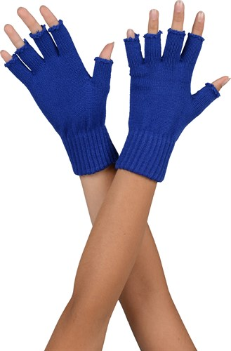 Half-finger gloves blue