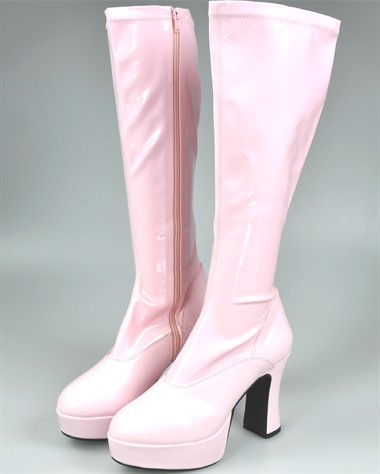 Stretch Stiefel  rosa