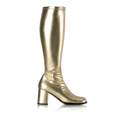 Stretch Stiefel gold
