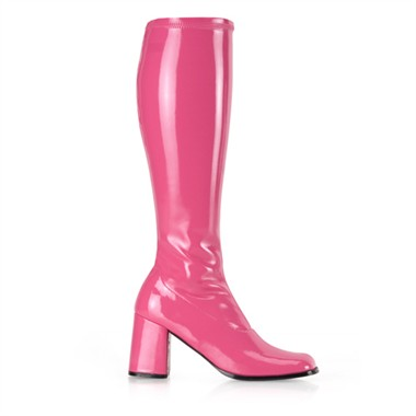 Stretch boots pink