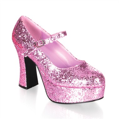 Disco Pumps Glitter pink