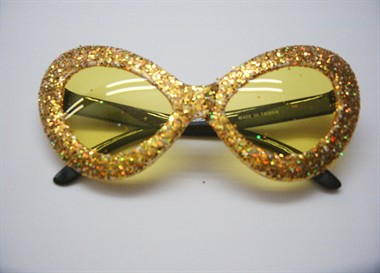 Glitter-brille alien Gold