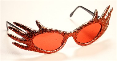 Glitter spectacles  star red