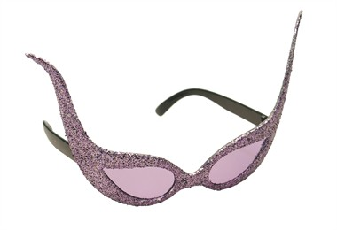 Glitter-brille space Lila