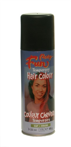 Haircolour-spray zwart (125 ml)