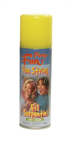 Funstring-Spray Gelb