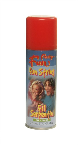 Funstring-Spray Rot (125 ml)