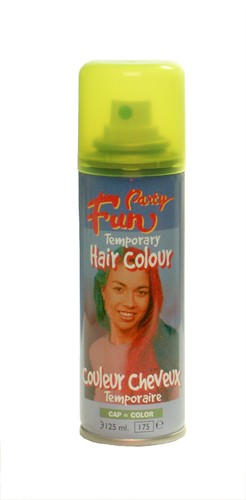 Fluo hairspray geel (125 ml)