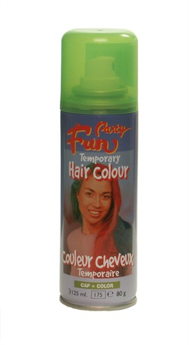 Fluo hairspray groen (125 ml)