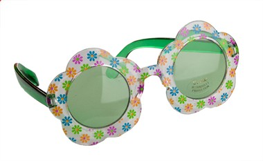 Brille Hippie Flower Power grün